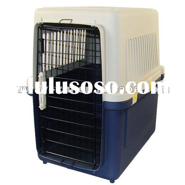 UW-FC-010 portable plastic dog cages with single door for pet, flight carriers,pet flight carriers