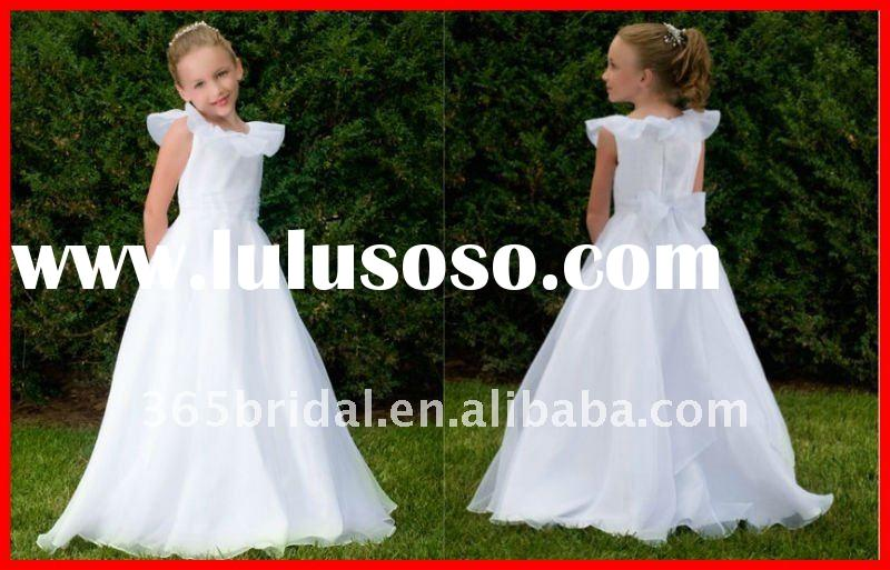 White Angel Tulle Flower Girl Dress 2012