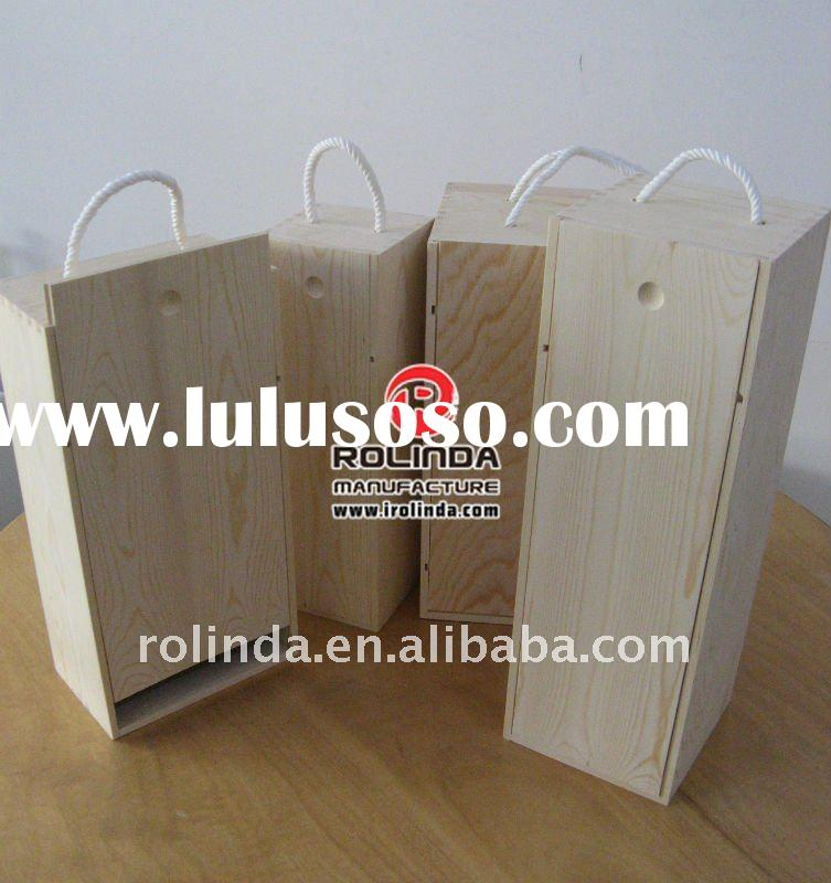 Wooden Wine Box with Lift Lid