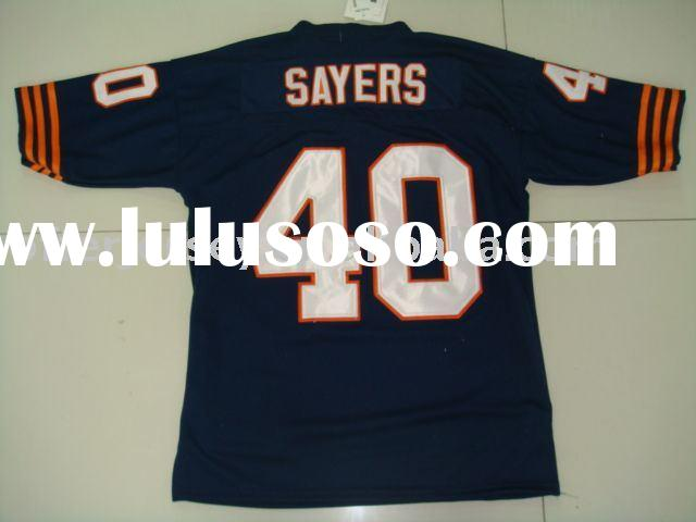 $22~$25 throwback football Bears #40 SAYERS blue jersey wholesale mixed order size 48-56