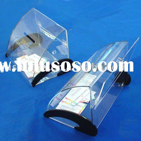 acrylic business name card collection box