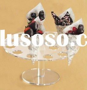 acrylic ice cream cone display holder
