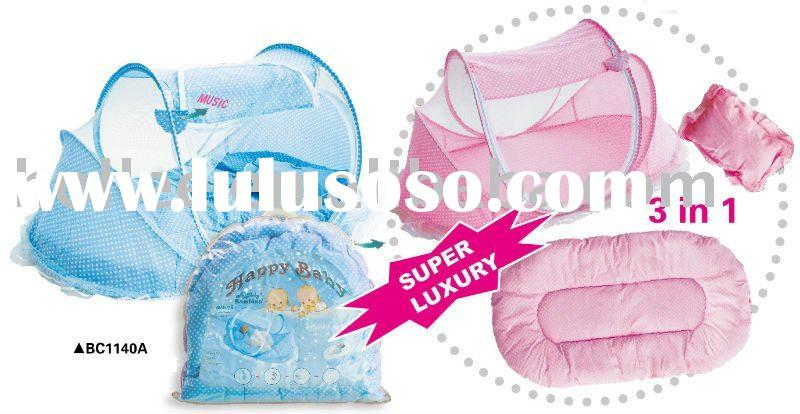 baby mosquito net with cotton sleeping mat