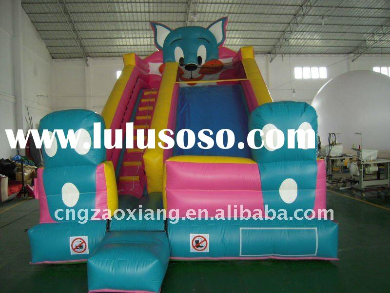 big pvc cat theme space inflatable slide