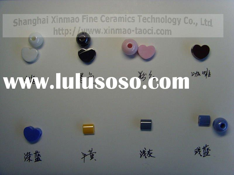 ceramic balls with holes for necklace & hand chain, colored ball, zirconia ball, jewelry ball,de