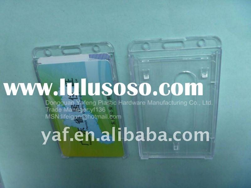 clear plastic card holder can hold two cards