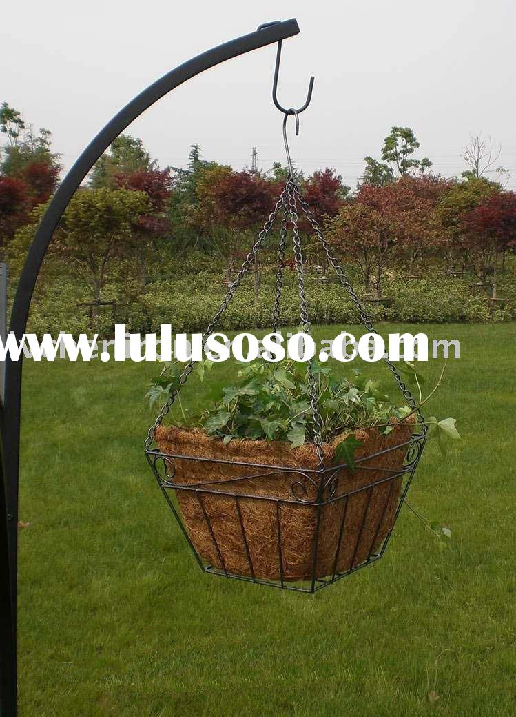 coco hanging basket,flower stand,metal flower pot,garden flower pot