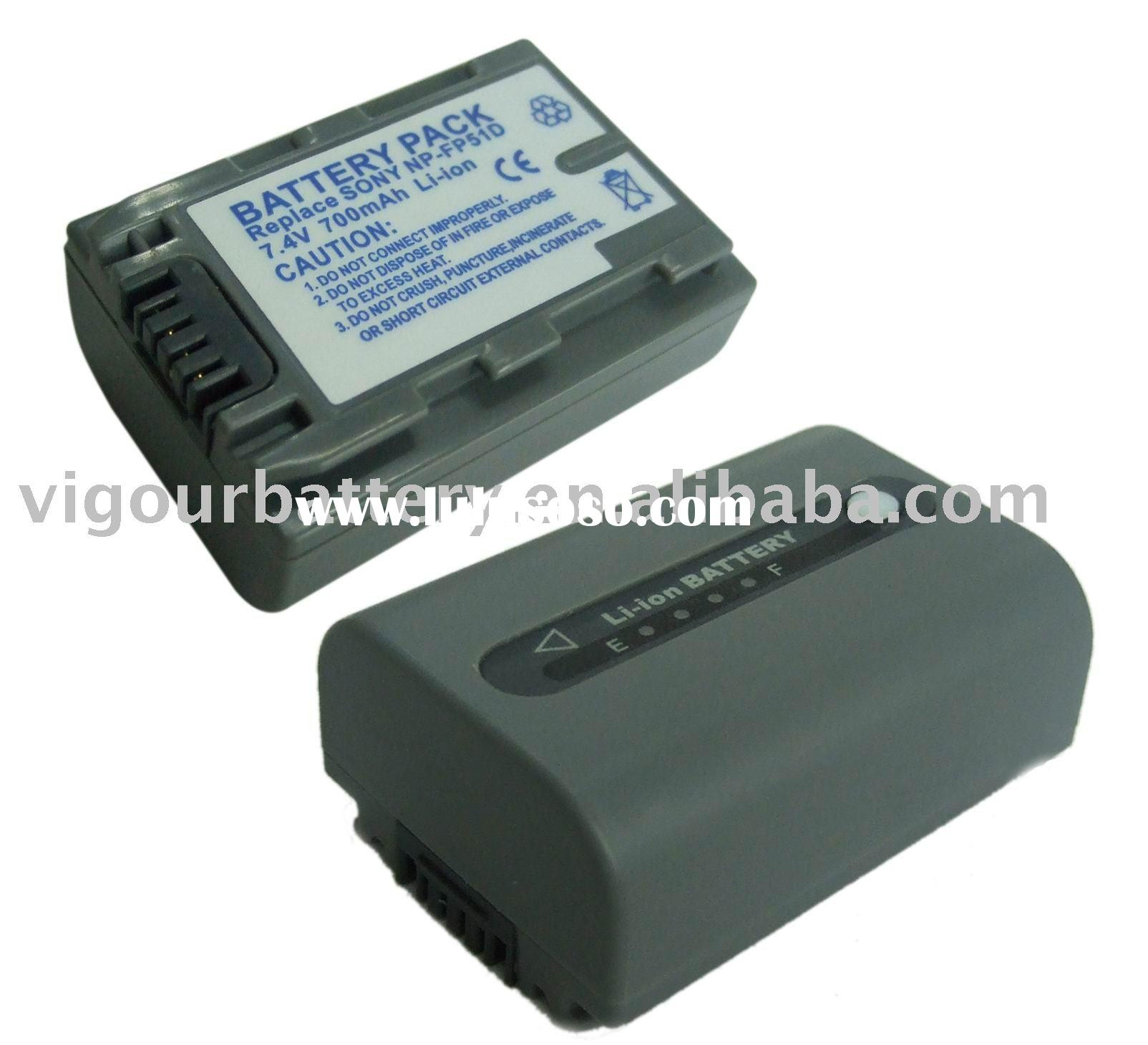 digital camera battery for sony NP-FP51D