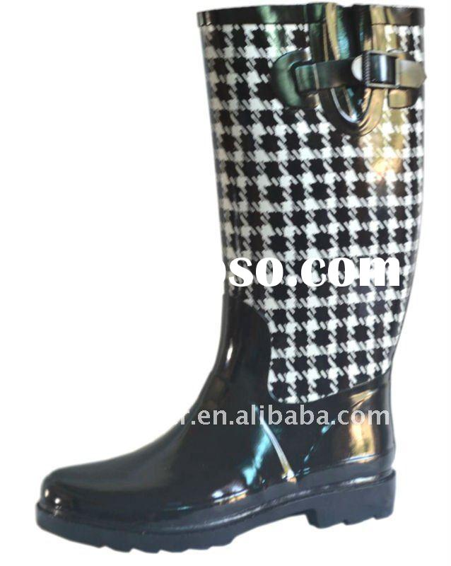 fashion 2012 spring rubber rain boots for women