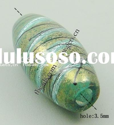 gold foil&silver foil italy murano glass beads