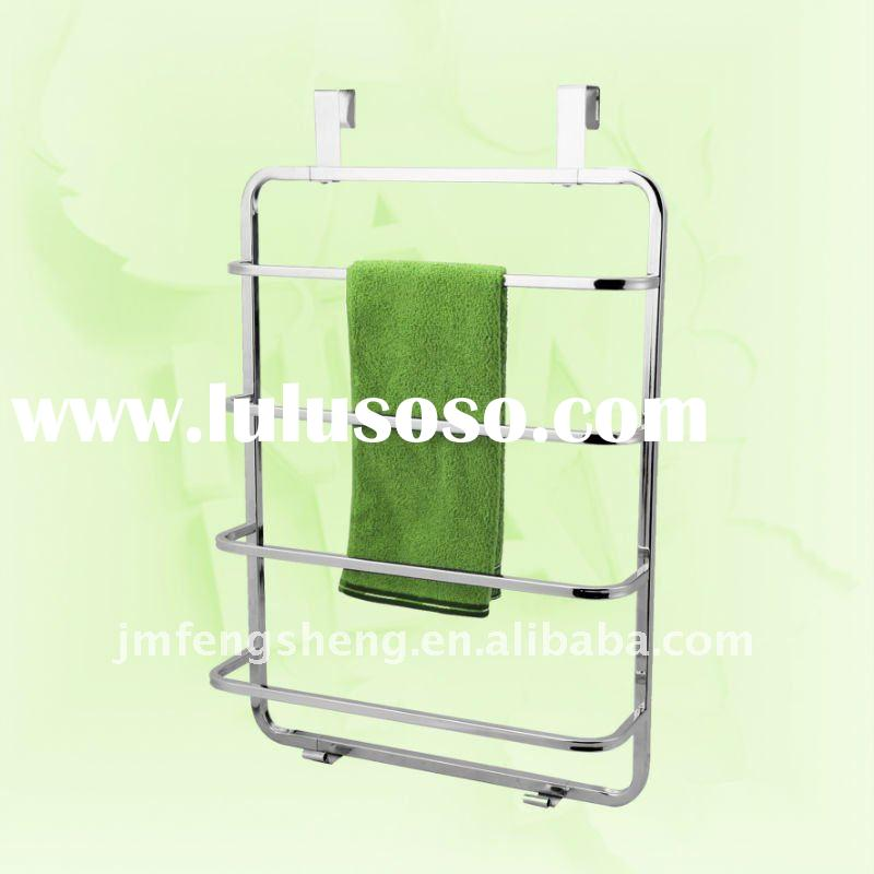 Iron With Chrome Plated Door Hanging Towel Rack