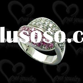 jewelry lots sterling silver rings setting CZ stone