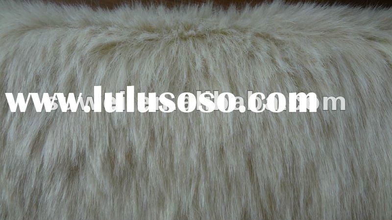 long pile polyester and acrylic faux fur fabric