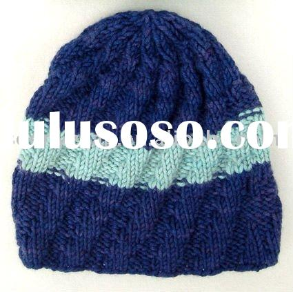 men's knitted hat pattern stripe knitted hats