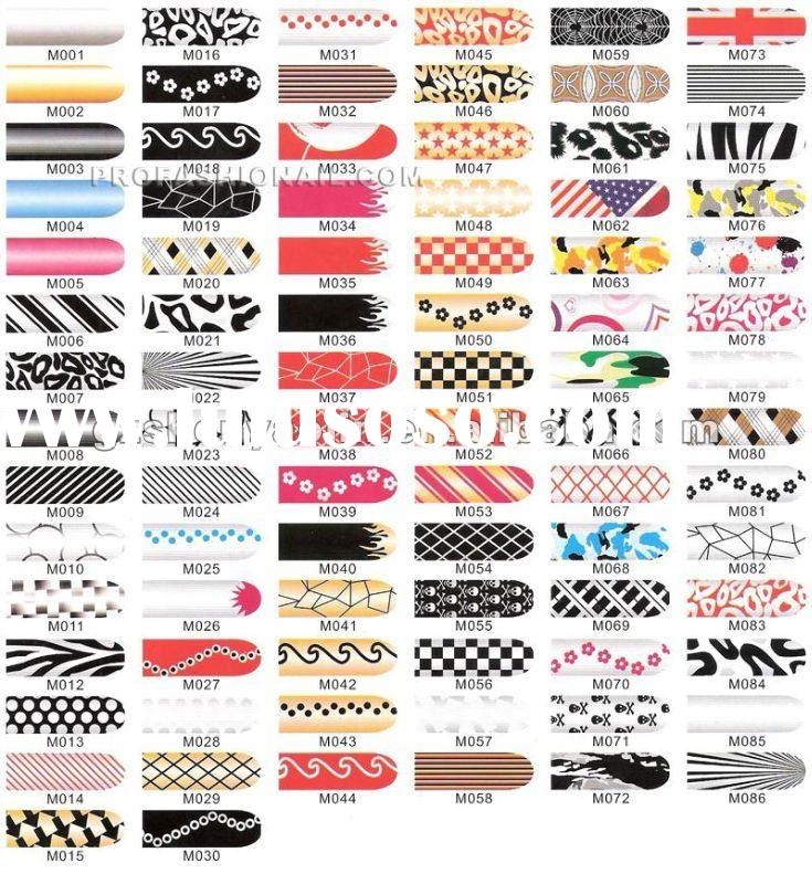 nail sticker nail foil sticker 5Sheet/set mixed 50 styles for nail art NA996
