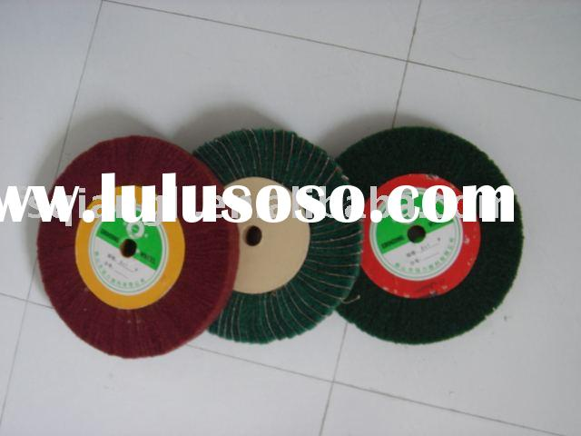 non-woven grinding wheel.Flap with sand paper.flap wheel, abrasive wheel.