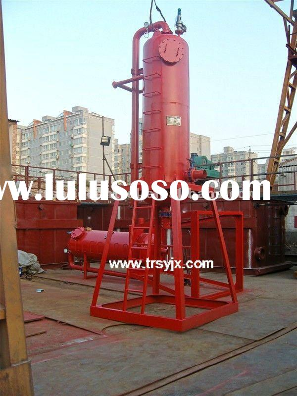 oil/gas/petroleum drilling equipment mud/liquid gas separator