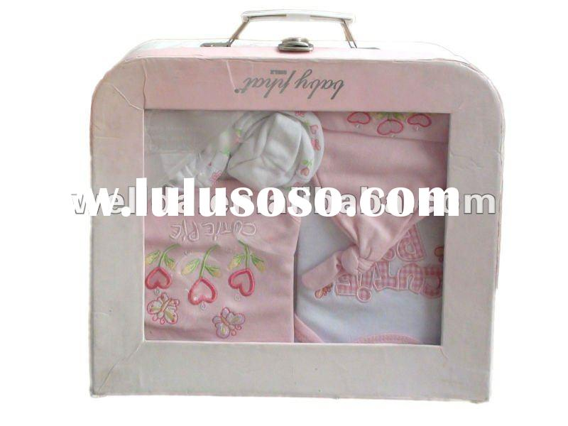 pink newborn baby girl clothes set with lock