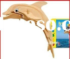 promotional wooden dolphin puzzle for both kids and adult