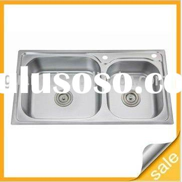 stainless steel kitchen sink with doulbe bowls