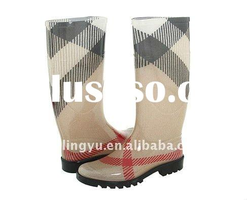 top famous brand light weight soft rain boots,woman fashion rain shoes/footwear