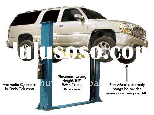two post car lifts used for maintenance