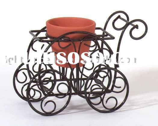 wrought iron flower rack