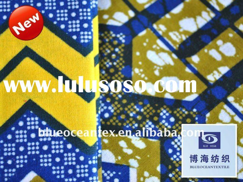 100% Cotton London Wax Fabric Printed Waxed Cotton Fabric Factory In Huzhou City,Zhejiang,China