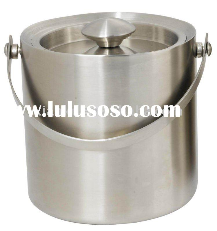 1.3L,2L,3L Double Wall Stainless Ice Bucket with Sealed Lid and Handle