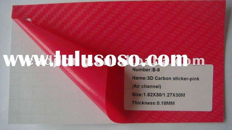 1.52/1.27*30m 3D Carbon Fiber Vinyl adhesive sticker Guaranteed 100% Air Free Bubbles (ROSEO)