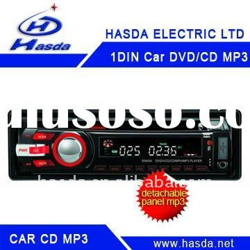 1-Din car Audio CD/VCD MP3 Player with USB AUX-IN