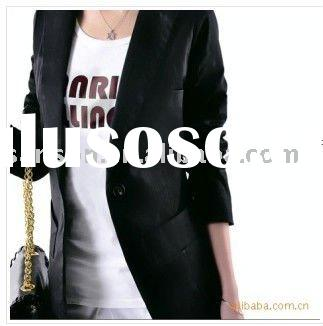2010 Autumn Fashion Korean Slim cut a small button suit jacket and long sections