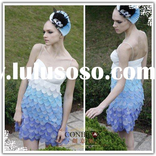 2010 Coniefox new styles light blue short prom dresses 80261