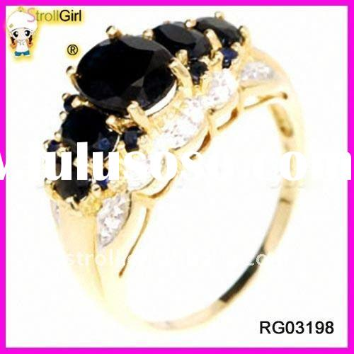 2011Fashion Engagement black diamond Rings