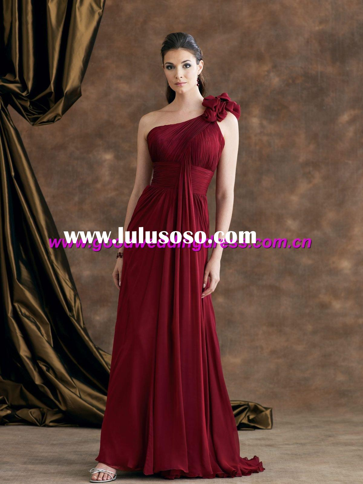 2011 new style one-shoulder Mother of Bride dress