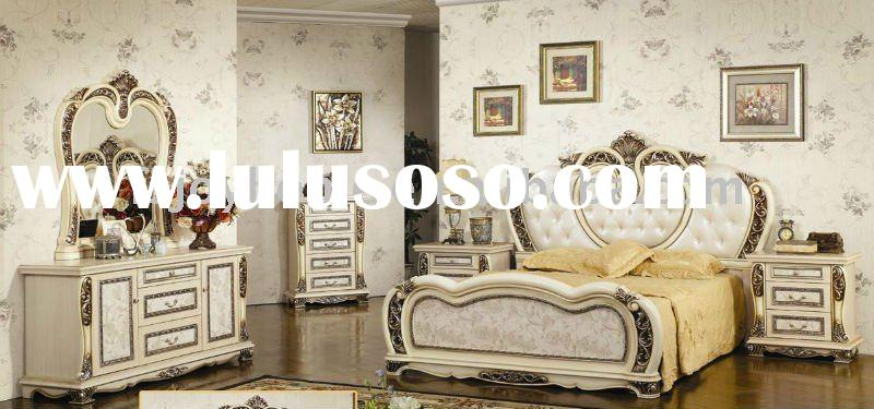 2012 Hot Sell White MDF Classical Bedroom Furniture & Factory Offer Classical bedroom sets (JH-W