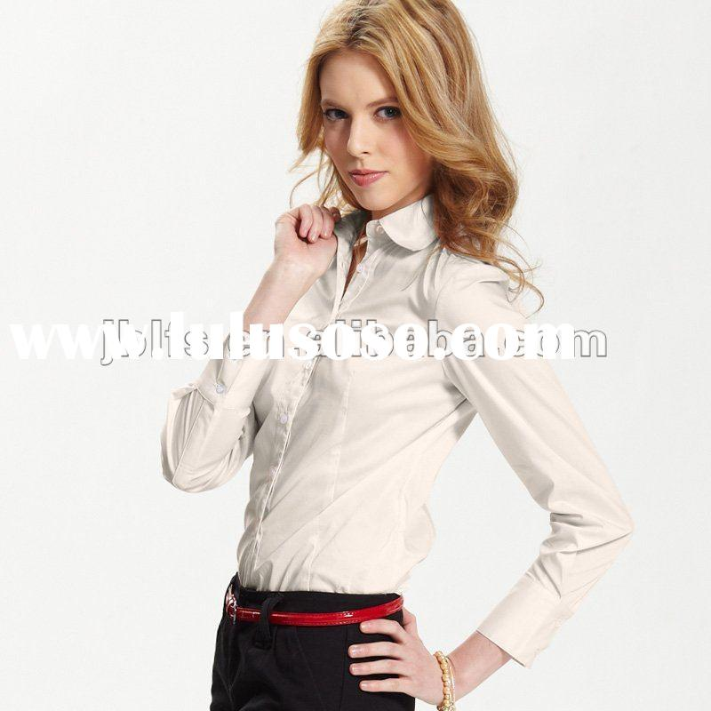 2012 new style Chinese office uniform designs for womans shirt