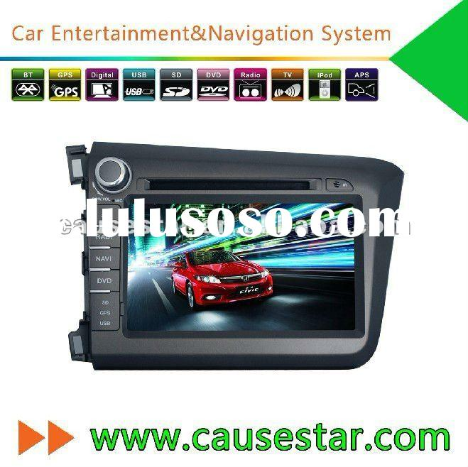 2 din Dashboard 8 Inch HD TFT Digital Touch screen factory price Car DVD Player for Honda Civic 2012