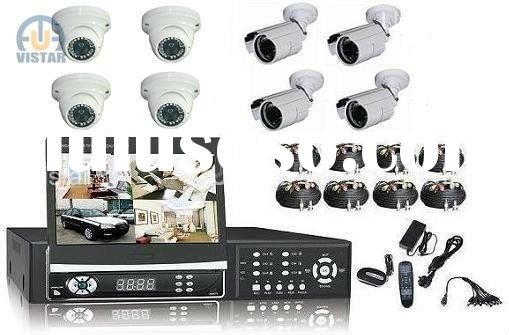 3G mobile control 7 inch TFT LCD Screen 8 CH DVR cctv system + 8 pcs SONY ccd cameras + 1000G HDD CC