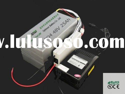 48V 25Ah LiFePO4 light motorcycle battery and charger