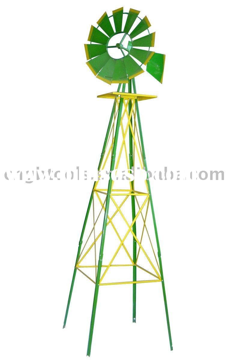 8FT metal windmill for garden