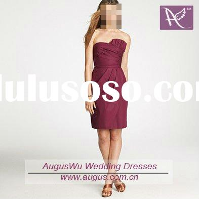 ABM-025 Modest Short Matron of Honor Dress