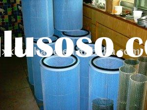 Air filters for paint spray booth, powder coating