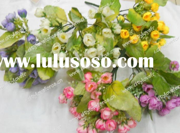 Artificial flower/artificial plant--Colorful cheap silk flower