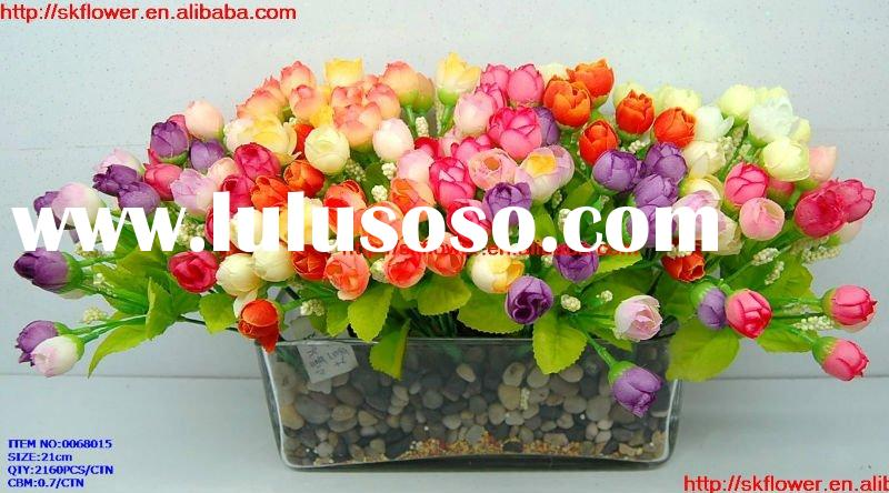 Artificial small bunch rose flower