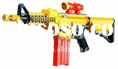 Battery operated large size eva soft gun/electronic toy gun with music and light