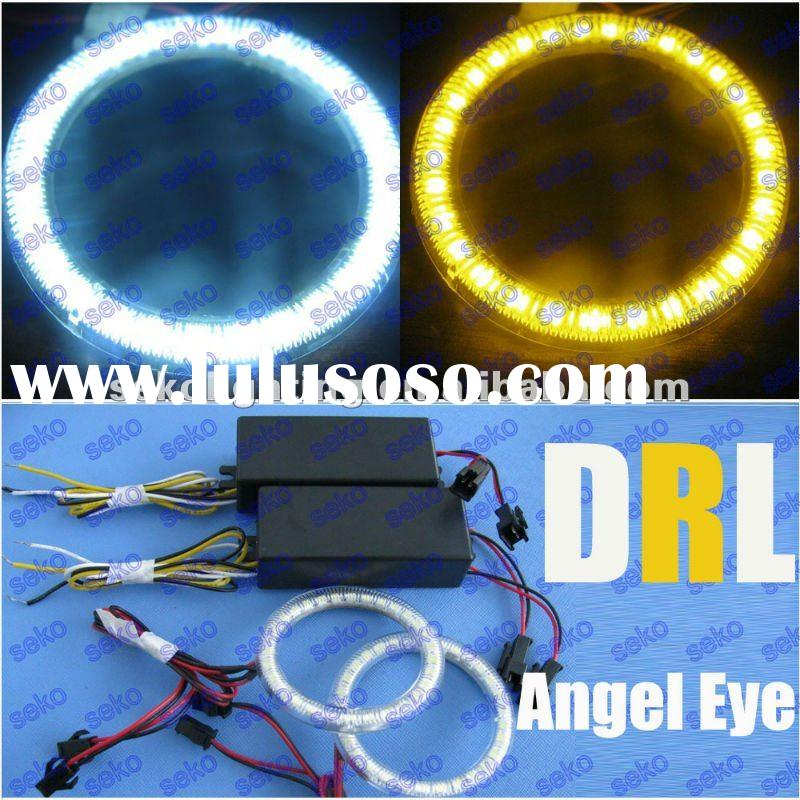 Bright Switch Back Dual Color White Amber LED SMD Angel Eye ring Light