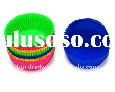 Bright color silicone cake baking tools and equipment