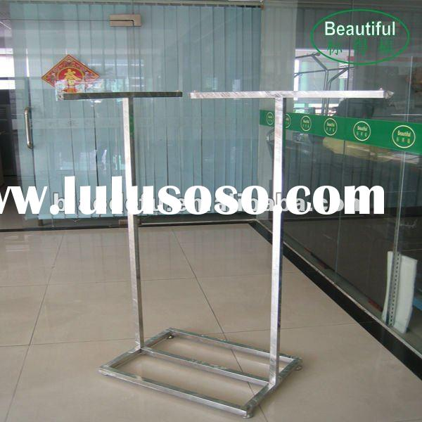 Clothes shop stainless steel decorative garment rack