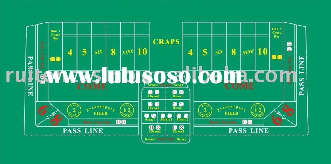 Craps layout,craps table layout,table cloth,table layout,casino layout